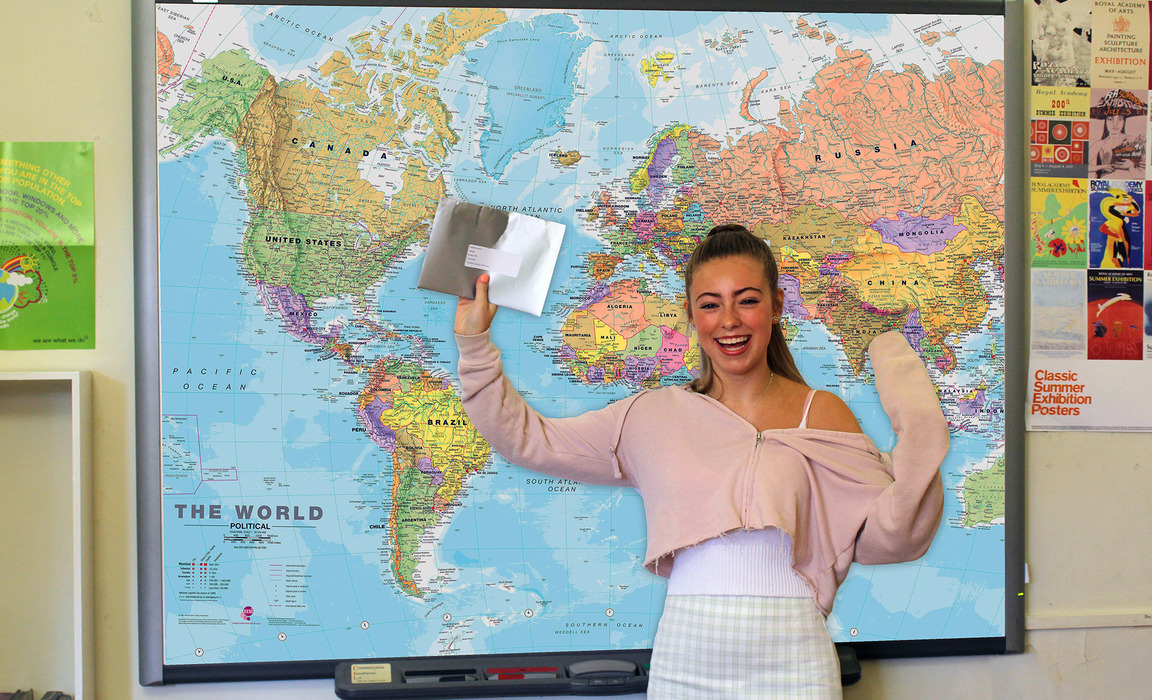 Success all mapped out for Kariella Keane with nine Level 9s, one Level 8 and A* Further Maths and Level 3 Algebra