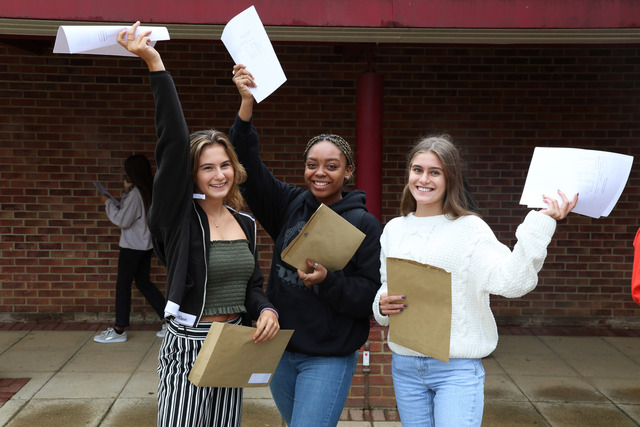 Girls celebrate Queen Anne's School GCSE results