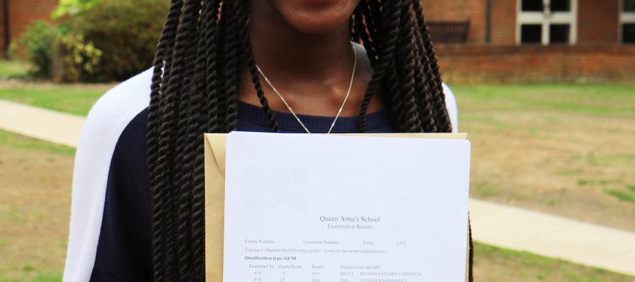 Hazel, Queen Anne's School GCSE results