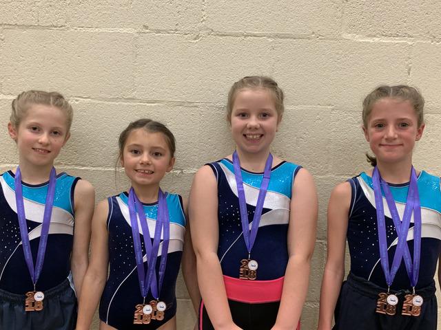 Queen Mary's Under 10 Gymnastics Team