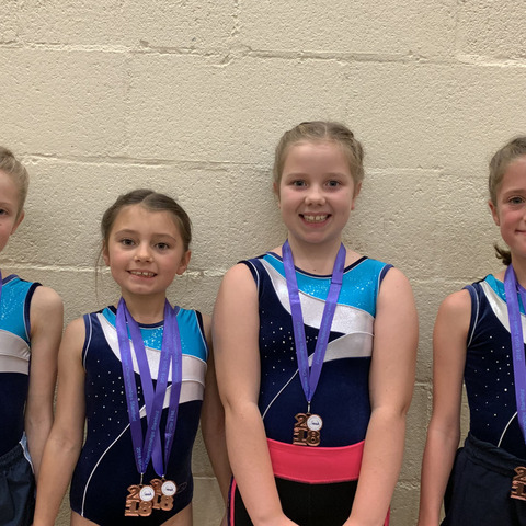 Queen Mary's Under 10 Gymnastics Team