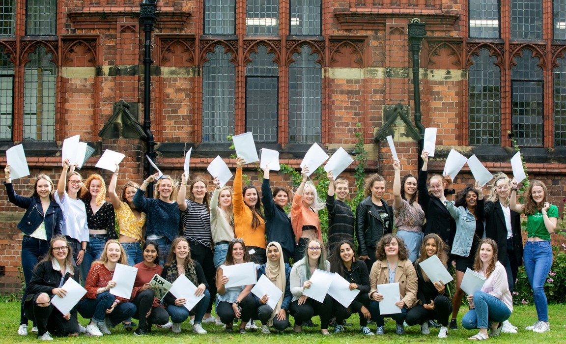 Pic 1 - Queen's Girls celebrate another year of superb A-level results