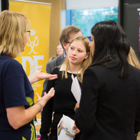 Reigate Grammar School Sixth Formers at last week's Volunteering Fair