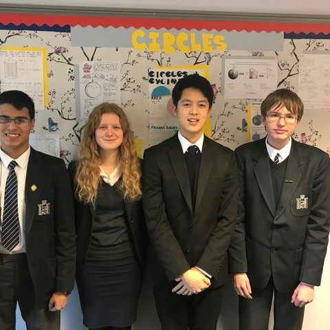 Lakith Gabrielsen, Connie Bambridge-Sutton, Andrew Huang, Chris Meredith are through to semi-finals of Hans Woyda Maths Competition for RGS