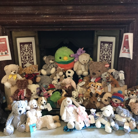 The teddies took pride of place in reception