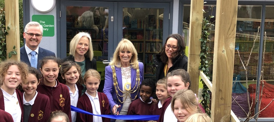 St Mark's CE School library is officially opened