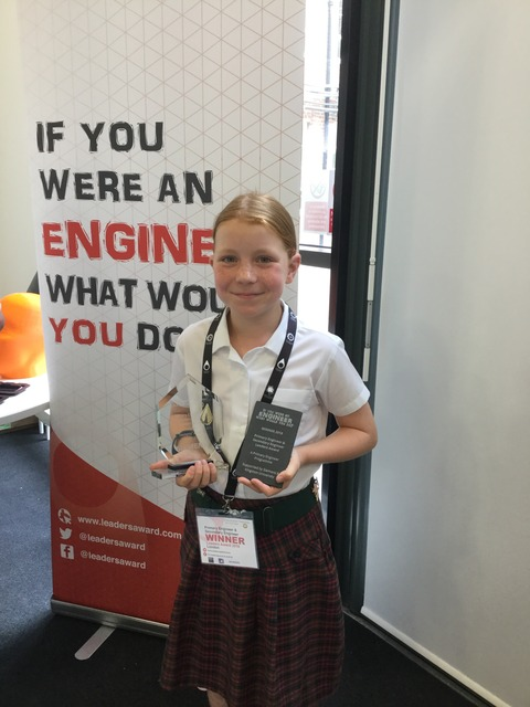 Primary Engineering Leaders Award Ceremony - Natalie Johns - Siemens trophy winner 5 Jul 18