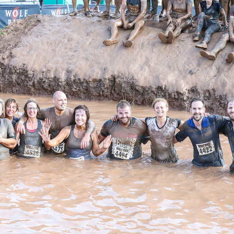 The staff Wolf Run team of Mr Hands, Mrs Rich, Mrs Lee, Mrs Merrick, Mr Johnson, Mrs Jones, Mr Swift, Mr Grove and Mr Mason raised over £800.