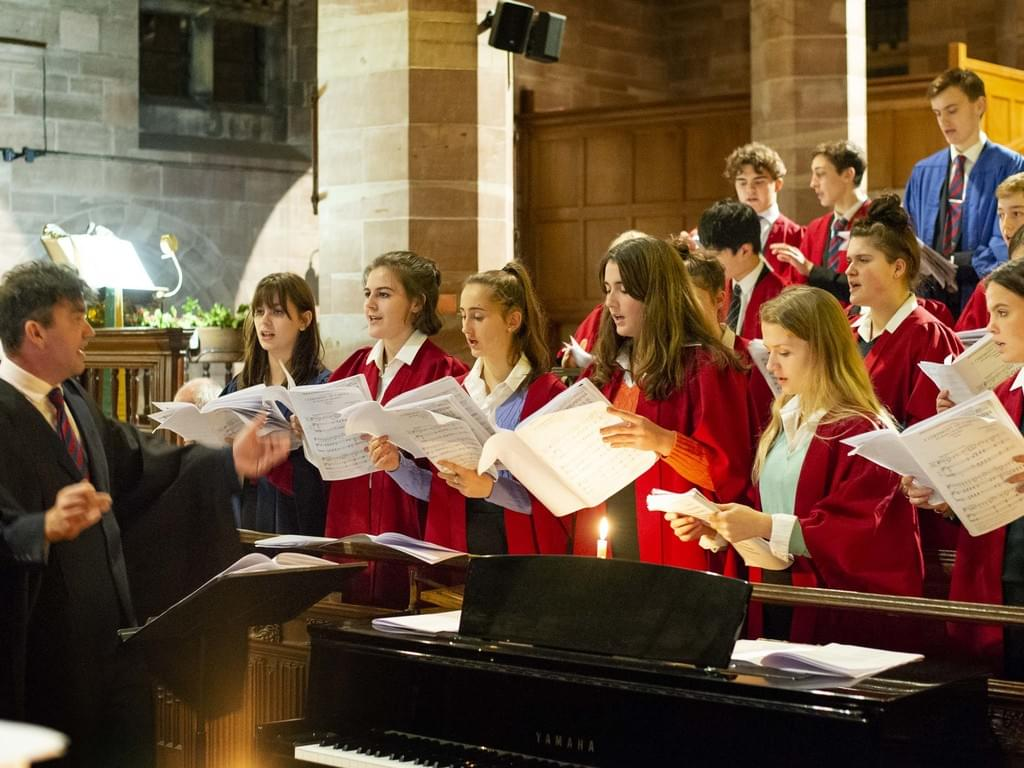 Sedbergh Chapel Choir led by Mr Seymour