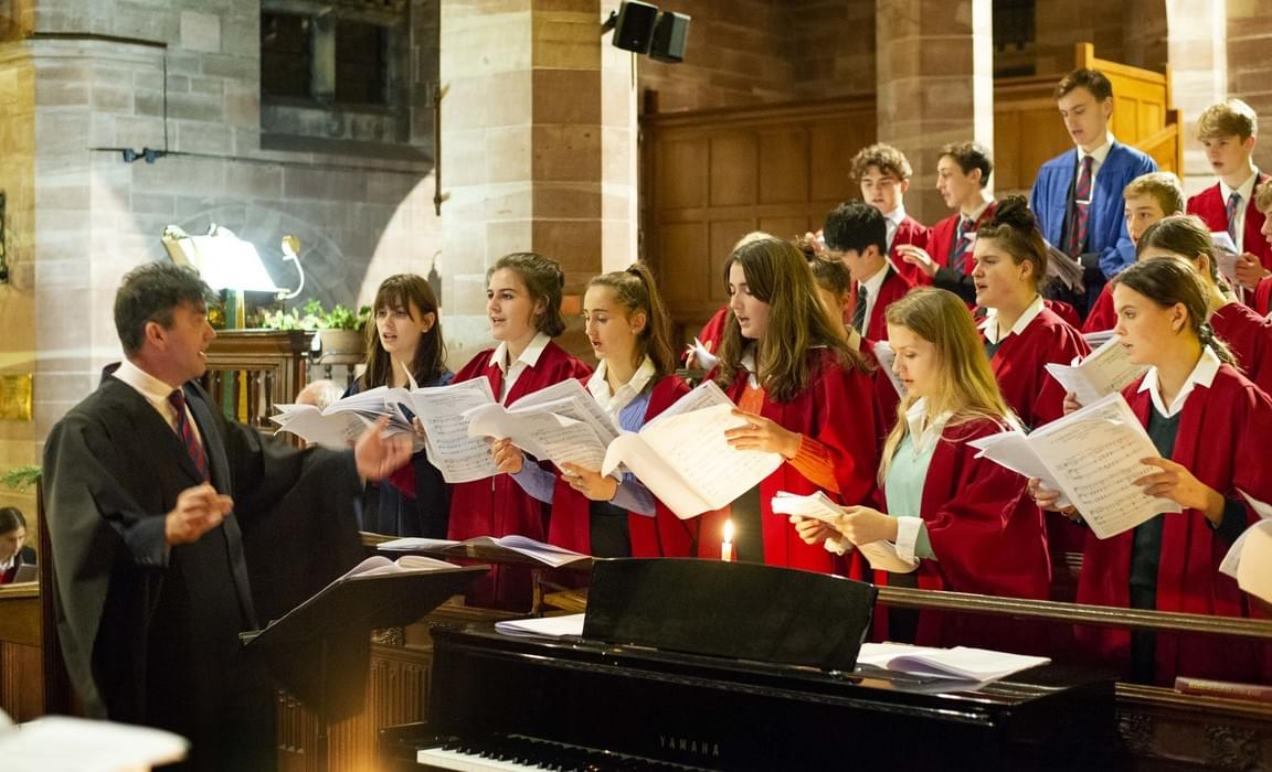 Sedbergh Chapel Choir led by Mr Seymour