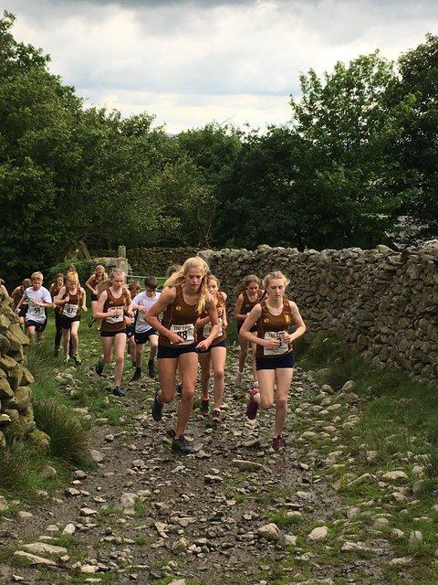 Runners begin their ascent