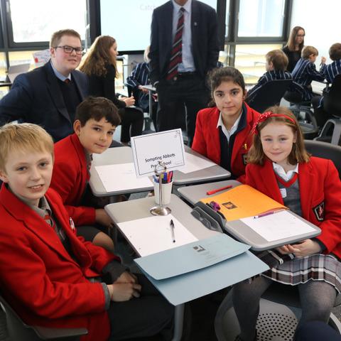 Sompting Abbotts' winning team at Brighton College's 789 Maths Challenge Day