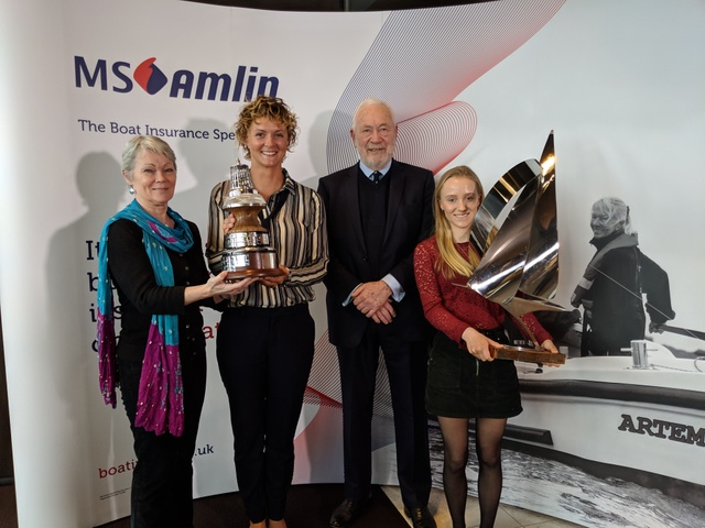 Current U5 student Emily Mueller and alumna Nikki Henderson - proud winners of Yachting Journalists' Association Yachtsman of the Year and Young Sailo