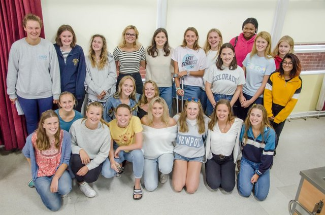 Some of our happy year of 2018 came into celebrate their fantastic A Level achievements