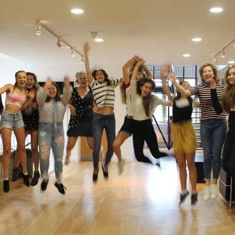 Girls Celebrating Results