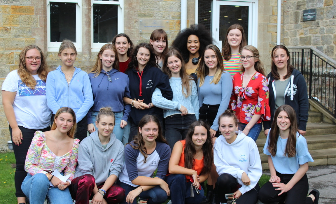 Mayfield Girls celebrating another set of exceptional A Level results.