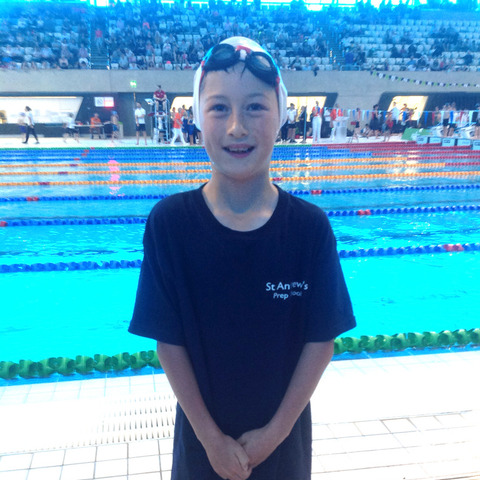 Mark McKie at the IAPS National swimming finals