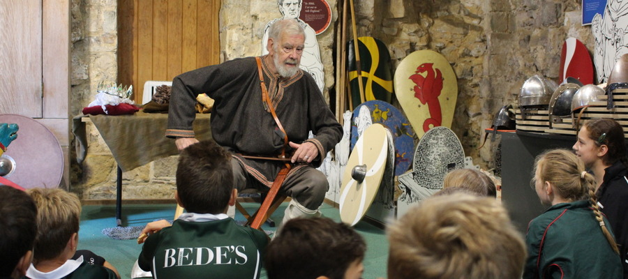 Bede's Prep Year 6 pupils at Battle Abbey