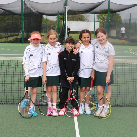 Bede's Prep U10 Girls Tennis team – County champions 2019
