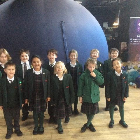 Bede's Prep Year 2 pupils at the Herstmonceux Science Centre