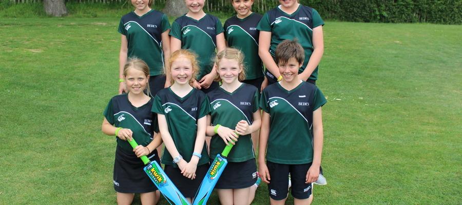 Bede's Prep A Girls Cricket team, winners of the IAPS U11 Girls Cricket Tournament