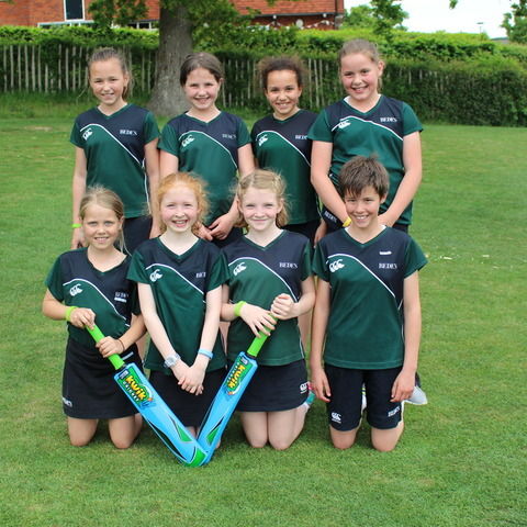 Bede's Prep A Girls Cricket team, winners of the IAPS U11 Girls Cricket Tournament