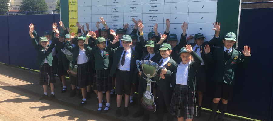 Bede's Prep pupils at The Nature Valley International Tennis tournament at Devonshire Park