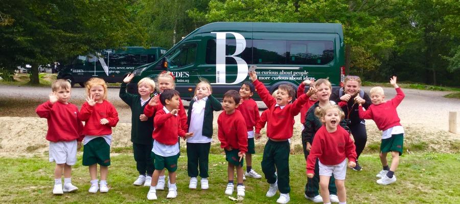 Bede's Pre-Prep Reception pupils at Abbot's Wood, Arlington