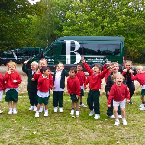 Bede's Pre-Prep Reception pupils at Abbot's Wood, Arlington