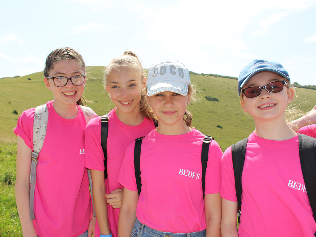 Bede's Prep pupils on their whole school walk, which raised over £4,000 for the Raystede Centre for Animal Welfare