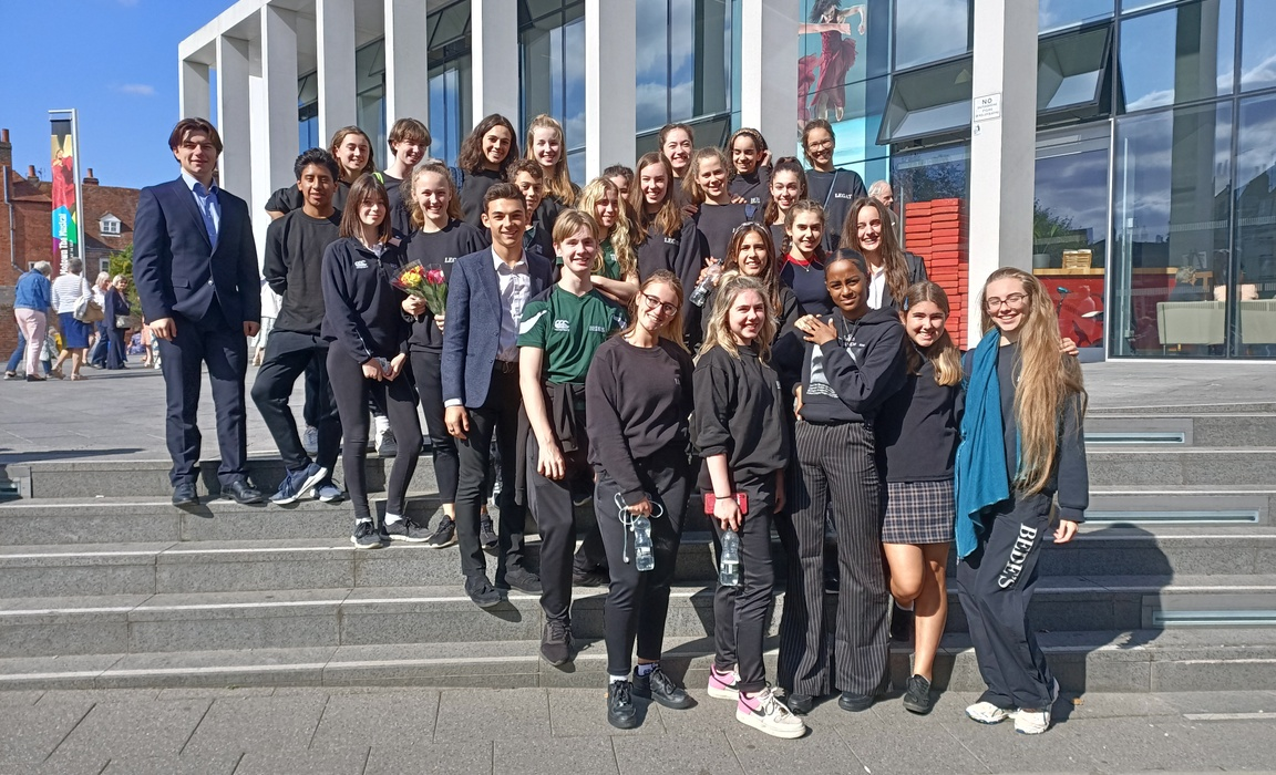 Bede's Legat Academy dancers at the Marlowe Theatre in Canterbury