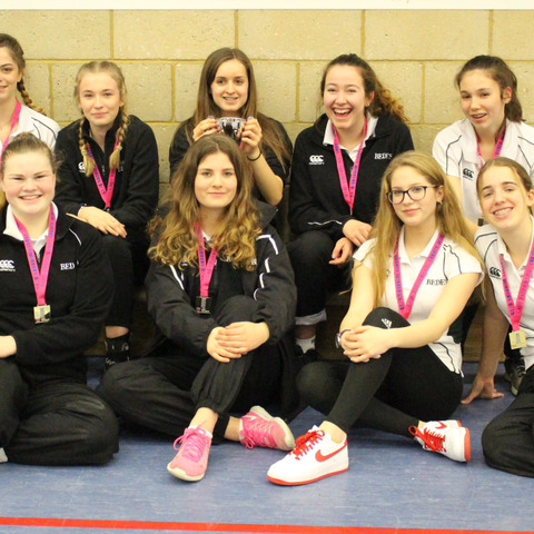 Bede's U15 Girls Indoor Cricket Team at the Lady Taverners County Final