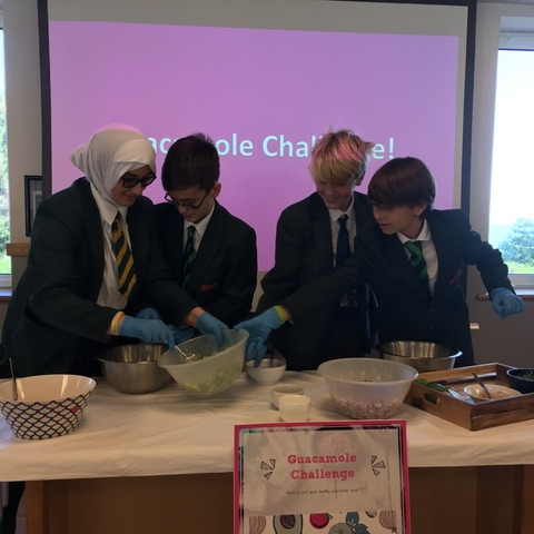Bede's Prep pupils learning about nutrition by playing The Guacamole Challenge