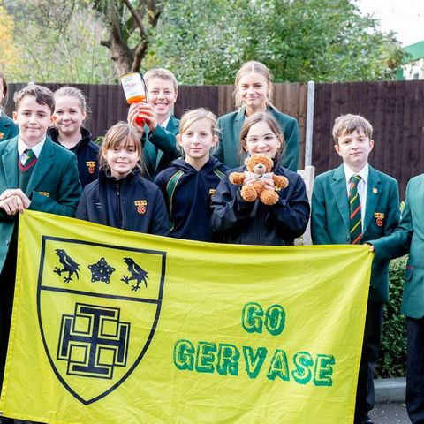 Fundraising Year 7 students at St Benedict's