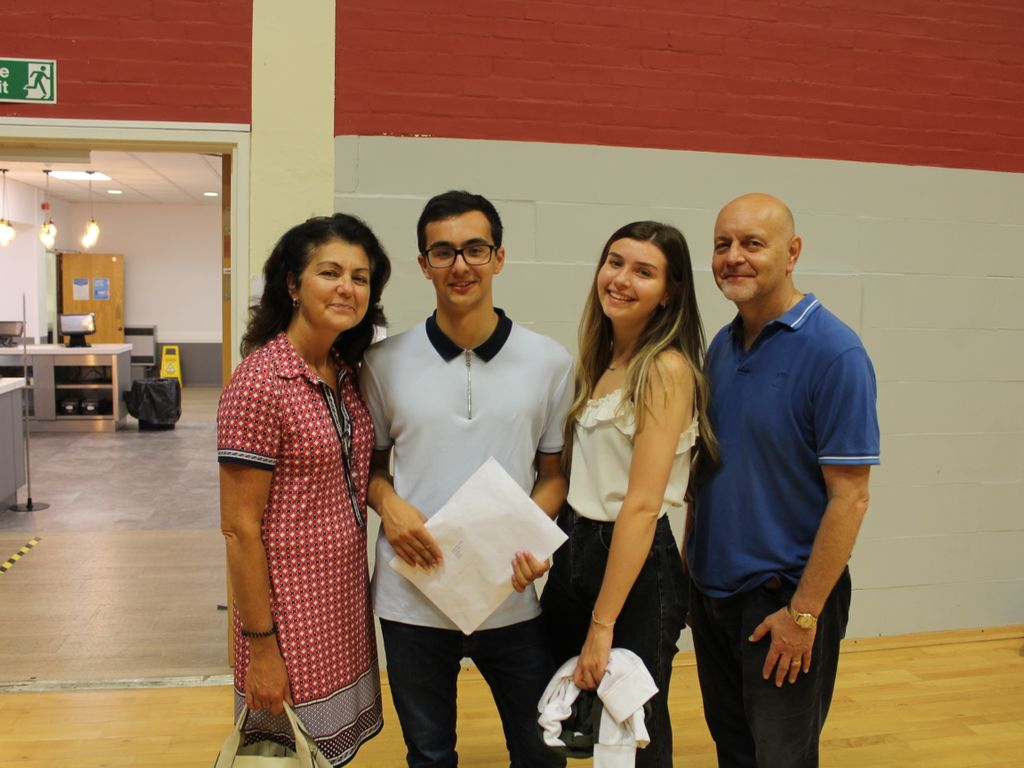 Davide achieved straight A* grades and goes on to Kings College London to study Religion, Politics and Society.