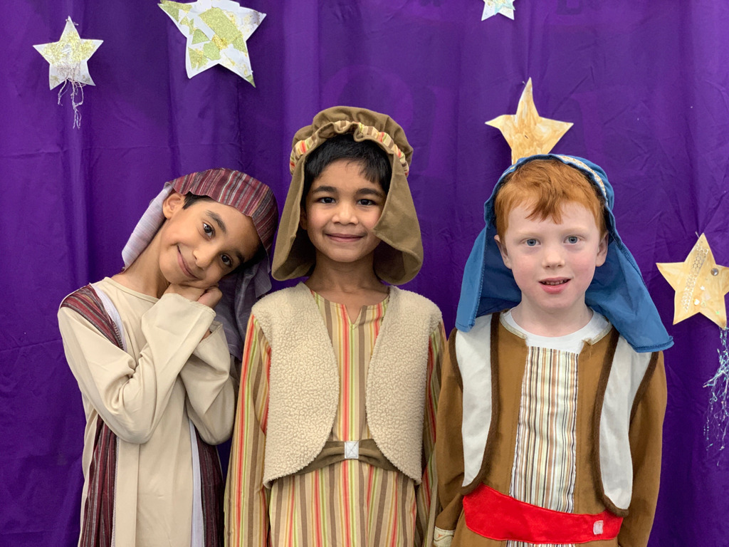 Lower Prep pupils perform their virtual Nativity.