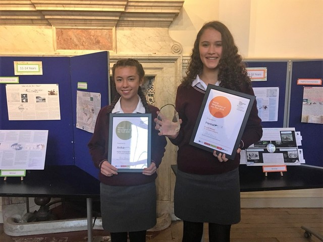 St Helen and St Katharine students win Young Geographer of the Year prizes