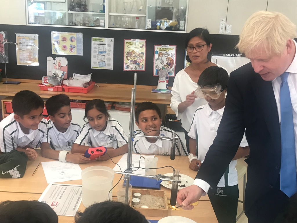 Boris Johnson Science Experiment