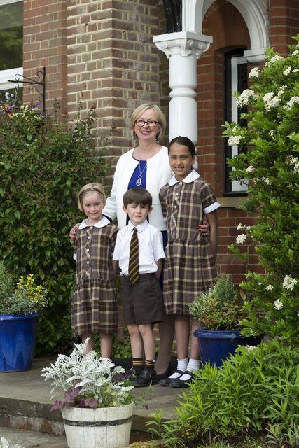 Mrs Whittingham and pupils