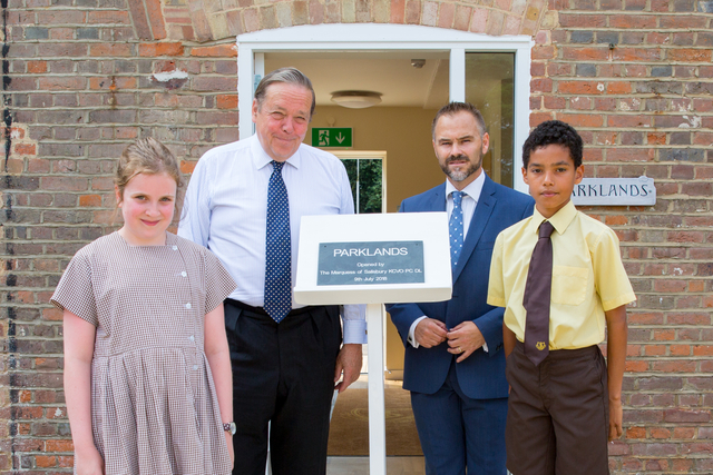 The Marquess of Salisbury opens the new Parklands building