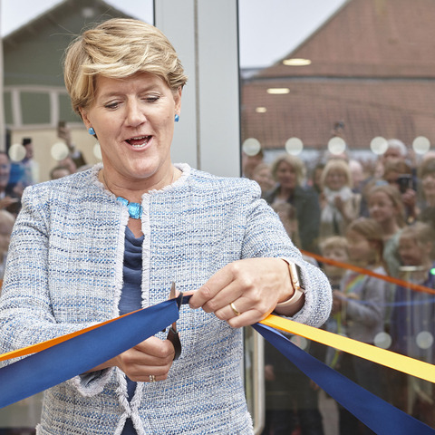 Clare Balding opens St Mary's Calne's new Sports Complex