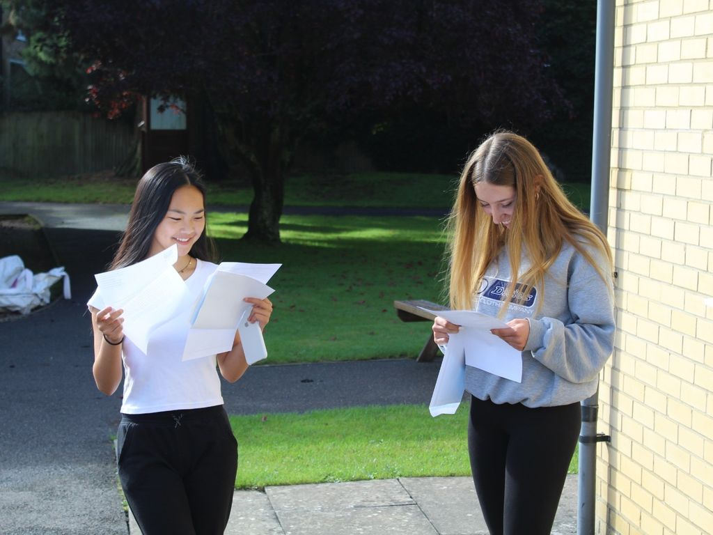 Sun shining on St Mary's for excellent GCSE results