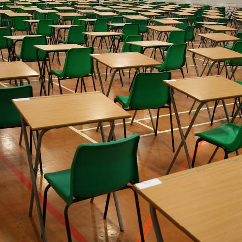 exam hall for SATS blog