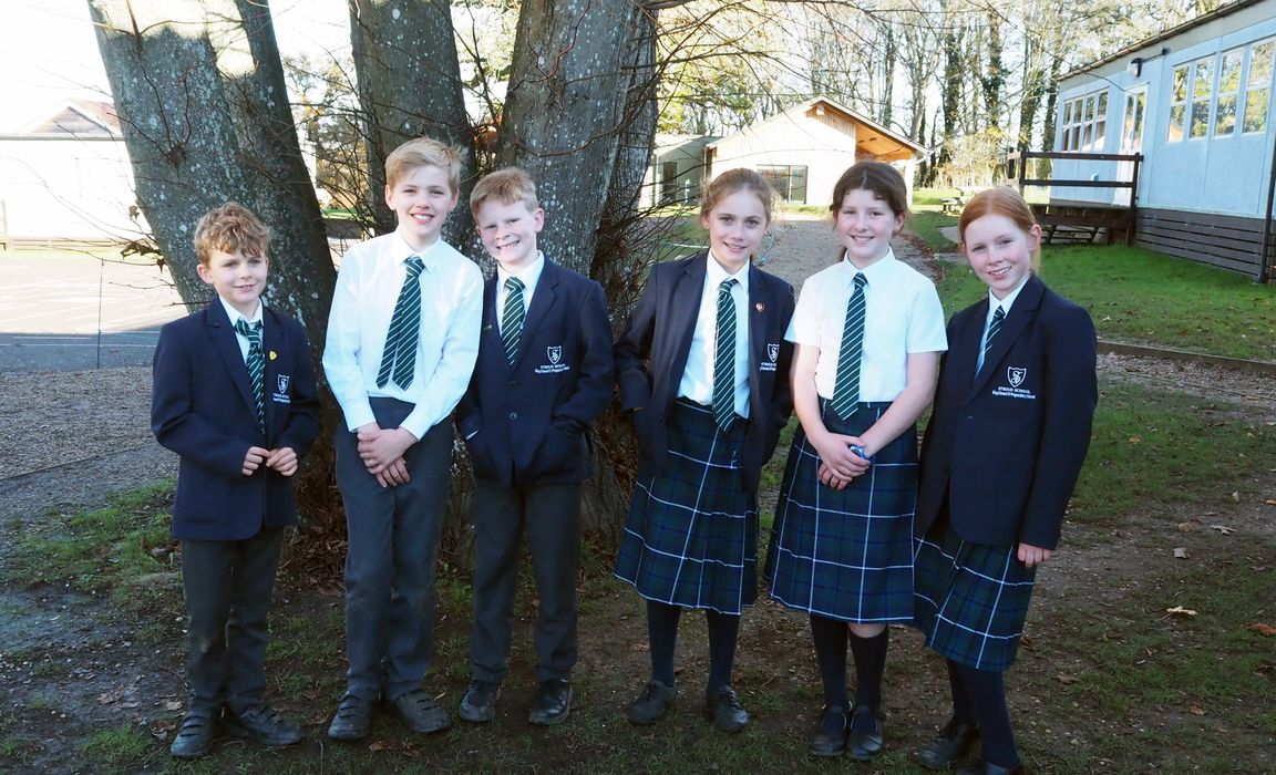 L-R: Year's 6's Charlie, Charlie, Jake, Grace, Lucy and Camilla.