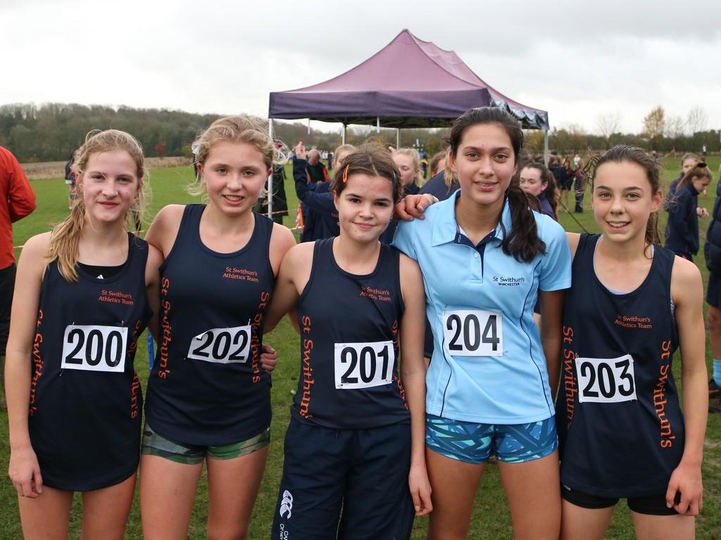 St Swithun's year 9 cross country team