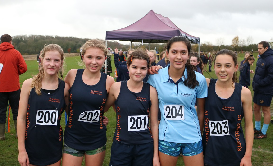 St Swithun's year 9 cross country team