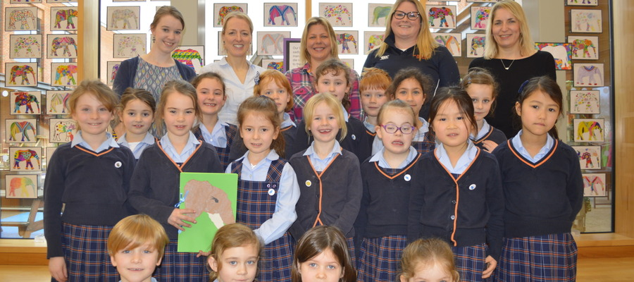 Holly Budge visits St Swithuns Junior School