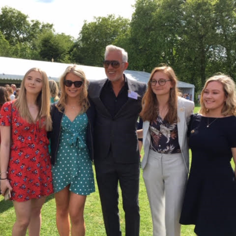 Gold for former pupils on meeting Martin Kemp