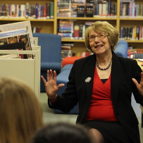 Dame Annette Brooke spoke to TH students interested in politics