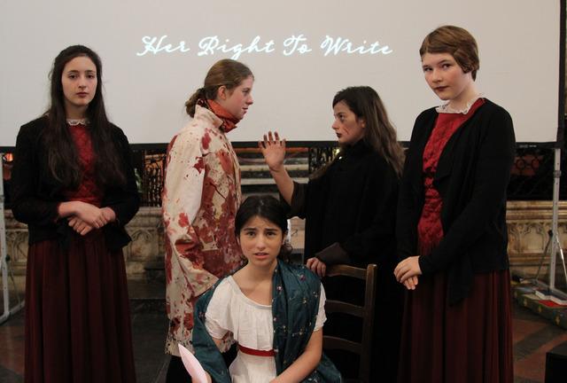 Talbot Heath pupils breathe life into Mary Shelley at the Festival